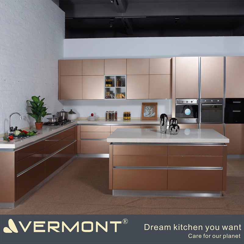 Prefab kitchen cabinet for homes(VT-PK-095)