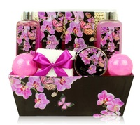 charming orchis complete carboard boxed packing body wash and care set