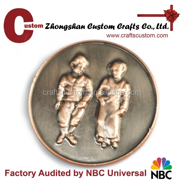 Custom Antique copper coin replica commemorative coin
