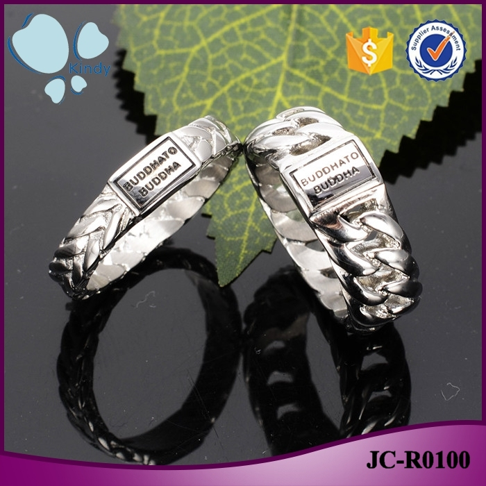 Best gift items wholesale 316l stainless steel buddhato buddha couple ring