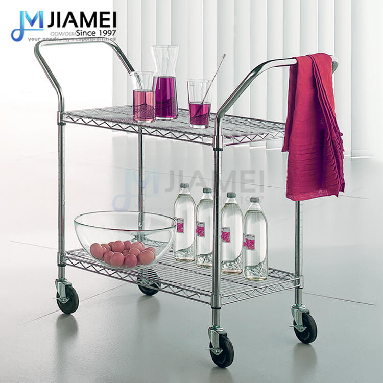 2 Tiers Heavy Duty Wire Utility Cart