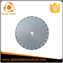 350mm diamond reinforced concrete saw blade cutting with location hole