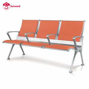 waiting area chair for airport row seat 3-seater bench