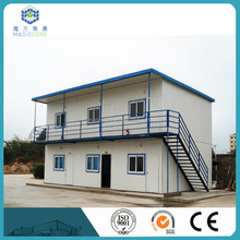 economical modular pre fabric house camp site two-storey steel frame building as dormitory/office