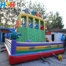 Attractive inflatable artificial rock climbing wall