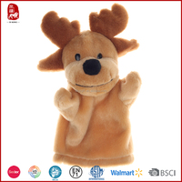 China wholesale customize new products plush animals hand puppets children educational toys good quality 2015