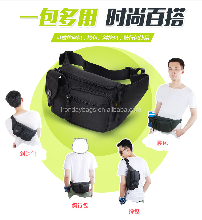 hiking travelling cycling sport waterproof waist waist bag outdoor use with bottle