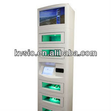 Secure Locking Door Touch Screen Video Advertising Credit Card or Bill Acceptor Payment Mobile Phone Charging Stations