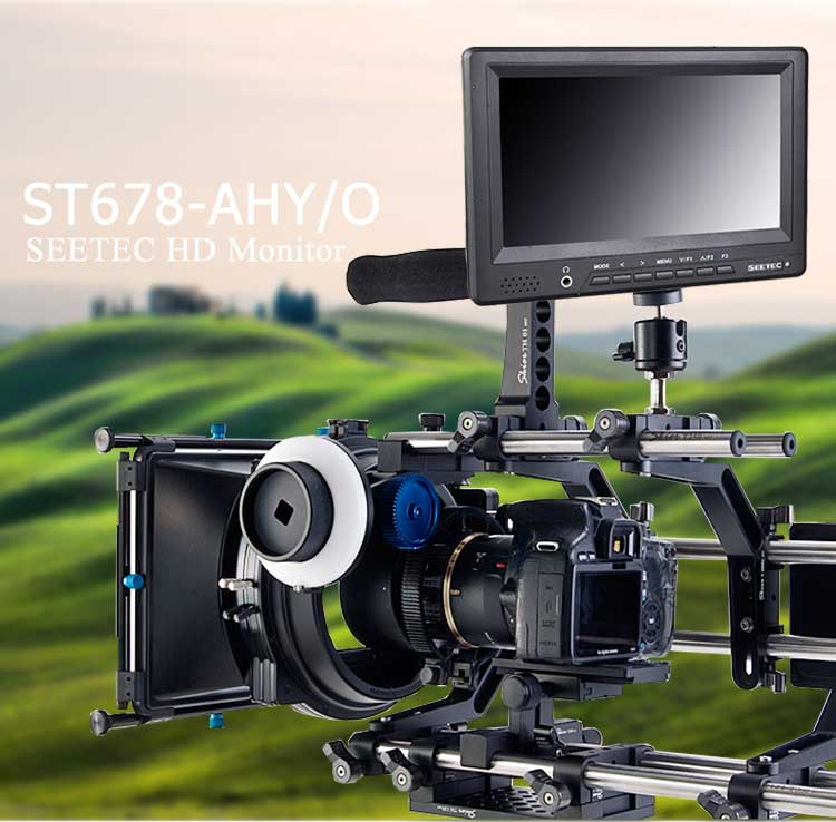 7 inch lcd monitor hdmi input and output video small portable 1080i 1080p hd field digital camera