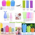 Soft tube packing press bottle silicone travel bottle for cosmetic/ shampoo