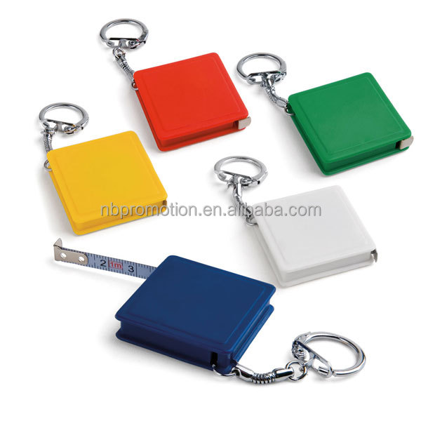 Square shape 1M keychain tape measure