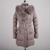 2014 Custom Fashion Outwear Woman Clothes Long Thick Women Winter Coats with Rabbit Fur
