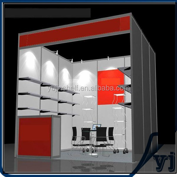 Aluminum extrusion trade show booth/cometic exhibition booth/cometic exhibition booth