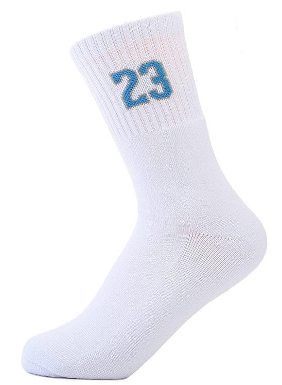 White mens basketball crew socks