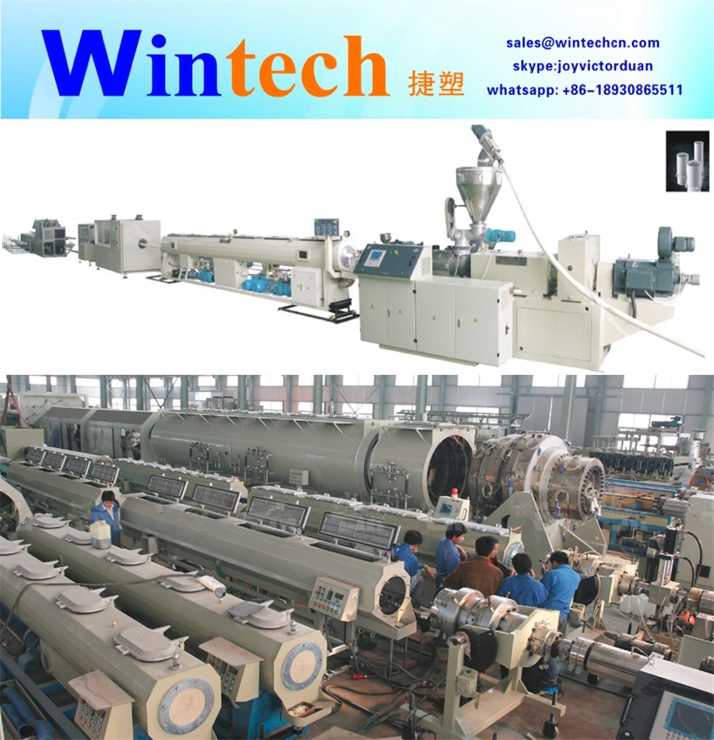 110-315mm PVC/UPVC/CPVC pipe extrusion production making manufacturing machine pvc pipe extruder machine with price for sale mad
