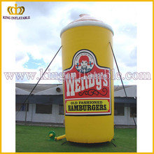 Custom Promotional Cold Drink Inflatable Milkshake Cup, Giant Inflatable Vaso Model