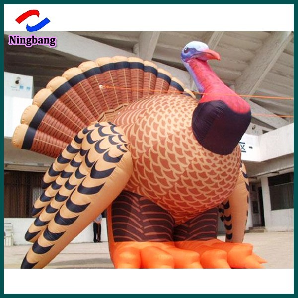 NB-CT20108 NingBang Customized giant inflatable turkey cartoon for market promotion