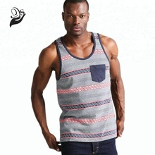 high quality 75% cotton 25% polyester men summer tank tops