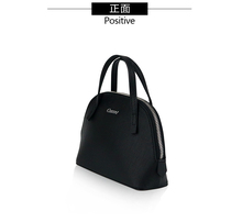 2018 Top quality Black leather handbag ladies cluth purse tote shopping bag