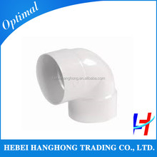 ISO/JIS/AS/ASTM/ANSI 110mm 90 degree PVC Plastic Pipe Fitting Elbow for electrical fitting