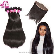 7A Grade Raw Indian Remy Hair Full Frontal Closure 13x4 Ear to Ear Lace Frontals with Baby Hair Indian