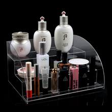 Factory Price High Quality Acrylic Cosmetic 3 Tiers Clear Organizer Lipstick Makeup Display Stand Holder Nail Polish Rack