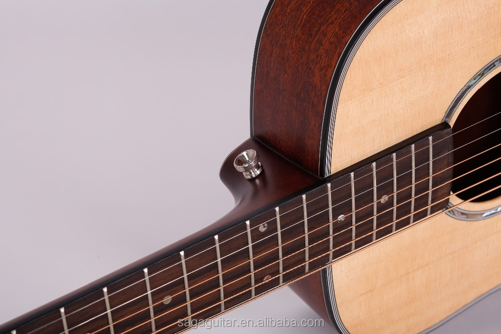 Hot sale SAGA travel guitar BT10S 34 inch natural color from huadun musical instrument factory