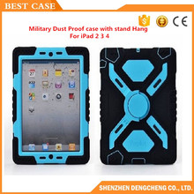 Promotion Spider Extreme Military Heavy Duty Waterproof Dust/Shock Proof with stand Hang cover Case For iPad 2/3/4