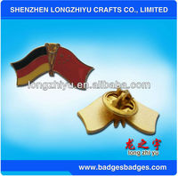 Countries Crossed German Flag Lapel Pin Badges/Gold Flag Collar Pins,Enamel Flag Pin With Epoxy