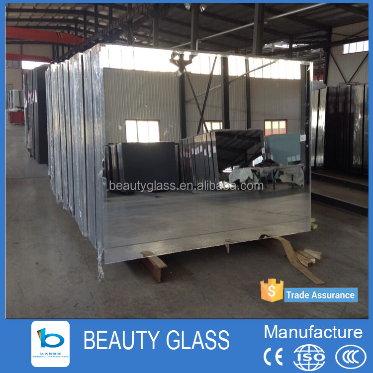 shahe city glass manufacturing aluminum mirror sheet polished