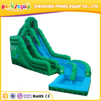 Fast inflating summer use inflatable water slides wholesale for rental business