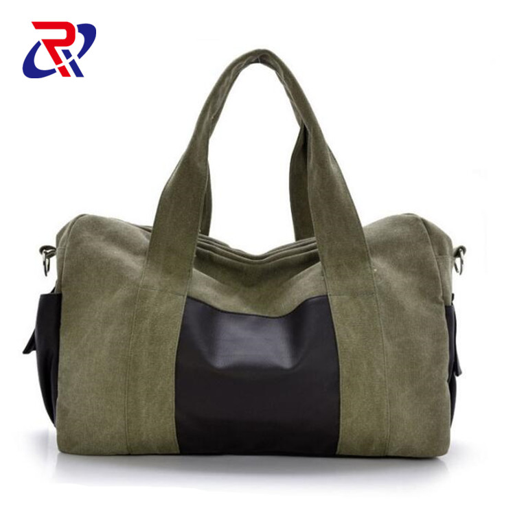 Overnight Bag Canvas man woman/ oversized canvas <strong>travel</strong> tote luggage weekend duffel bag