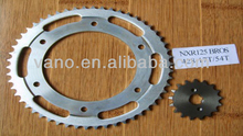 Good Quality Material SAE1045 17T 54T 428H 132L Motorcycle Chain and Sprocket NXR125 Bros