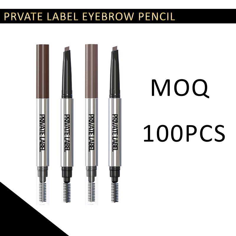 Fashion waterproof long lasting private label eyebrow pencil with brush