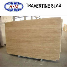 Beige stones travertine slab for sale
