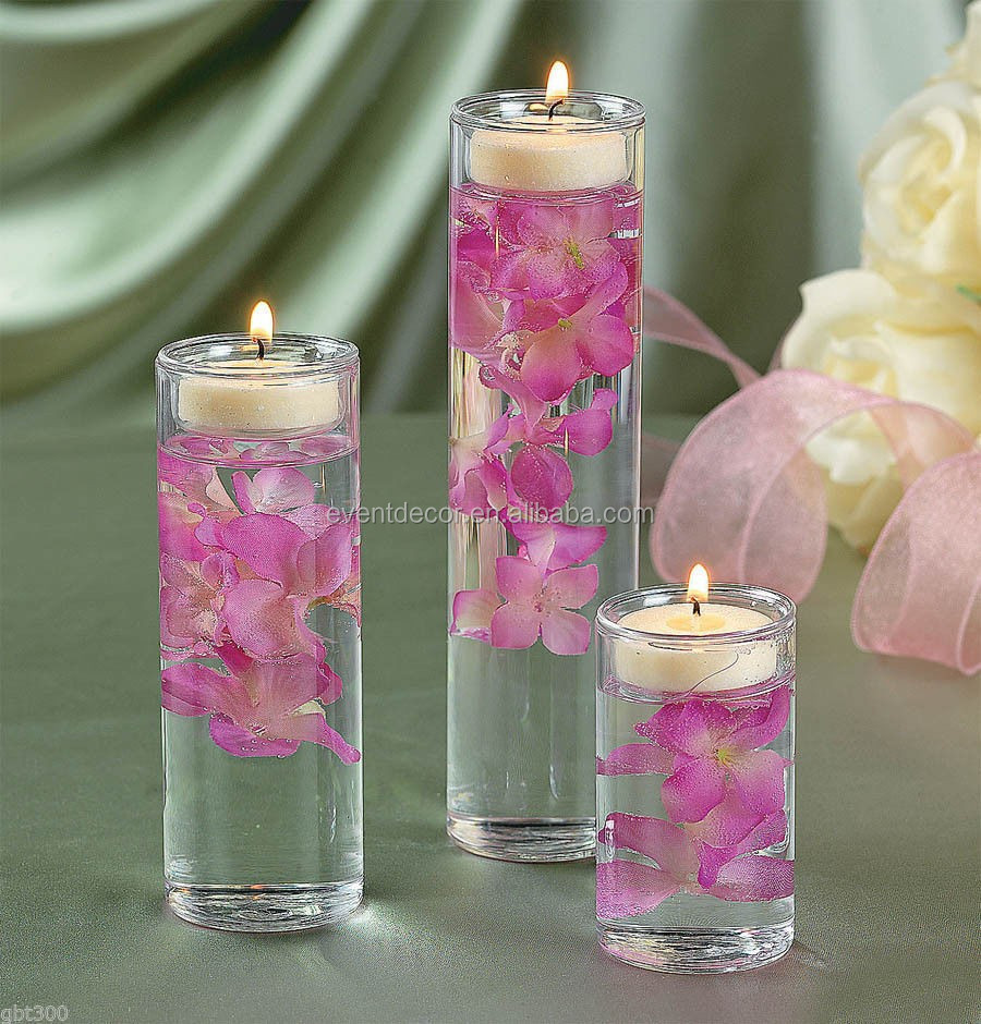 Wholesale glass holder , clear cylinder glass vase for decoration