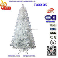7 Foot Family Christmas decorations wholesale Artificial White Christmas Trees with 500 Tips