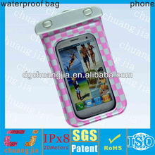 Promotion phone case clear waterproof bag for samsung galaxy galaxy s4