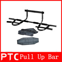 fitness door gym pull up bar/pull up frame bar with Arm straps