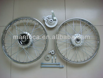 CG125 Spoke wheel set
