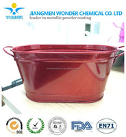 decorative nano red mirror chrome powder coating for indoor use