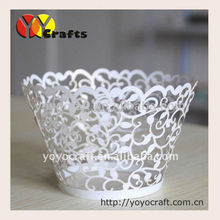 Little Vine Lace Laser Cut Cupcake Wrapper Liner Baking Cup Muffin Case Trays Wedding Birthday Party Decoration