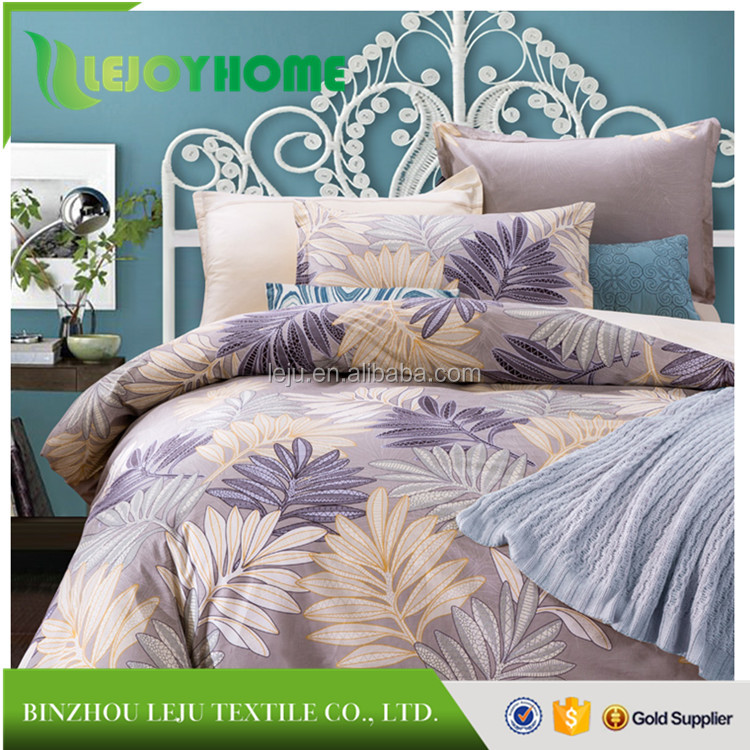 LEJOY HOME- China Home Textile 100% cotton twill reactive printed bed sheets bedding sets