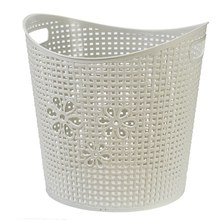Stronger Durable flexible garden plastic basket with handle collapsible plastic laundry basket