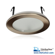 "ETL listed R20/PAR20 LED E26 8W max. 4"" Recessed Lighting Shower Trims with frosted lens"