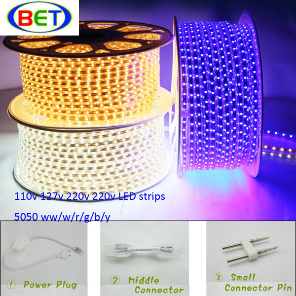smd5050 home furniture decoration led strip light indoor&outdoor facturing machine led rop 220V