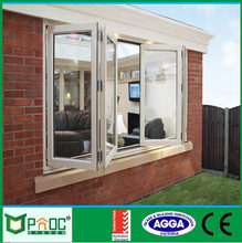 Powder coated cheap house bifold windows for sale with European standard