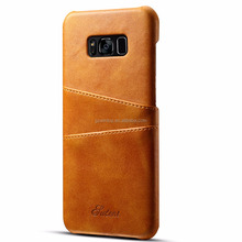 Fashionable High Quality PU Leather Cell Phone Pocket Case for Samsung Galaxy S8