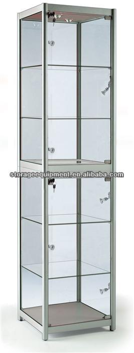 Best seller glass jewelry display cabinet/used glass showcases