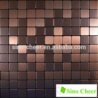 Modern Aluminum Mosaic Tile Peel and Stick for Backsplash and Accent Wall